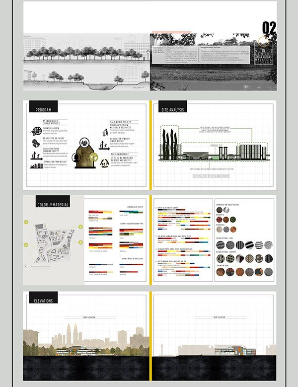 Architecture student portfolio book for Indesign interior