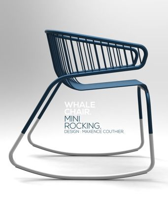 Whale Chair. Mini Rocking 2012 Material : Metal No. of pieces : 8 pieces of structure and many pieces of seat and backrest. User : Adult Location : Living room , Library & Outdoor. Functional