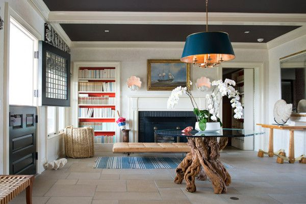 A Chic Oceanfront Retreat by David Netto via La Dolce Vita