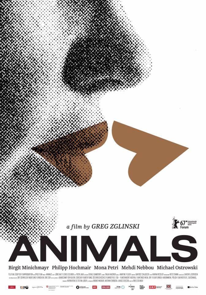 Tiere (Animals) by Greg Zglinski. Berlinale Forum.  Poster.