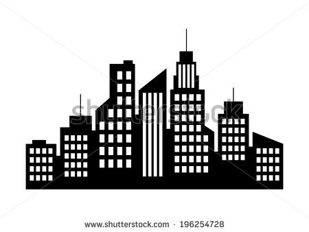 City icon on white background