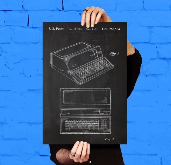 Apple Computer Patent, Apple Computer Poster, Apple Computer Print, Apple Computer Art, Apple Computer Decor, Apple Computer Blueprint by STANLEYprintHOUSE  1.00 USD  This poster is printed using high quality archival inks, and will be of museum quality. Any of these posters will make a great affordable gift, or tie any room together.  Please choose between different sizes and colors.  These posters are shipped in mailing tubes via USPS First Clas ..  https://www.etsy.com/ca/listin..