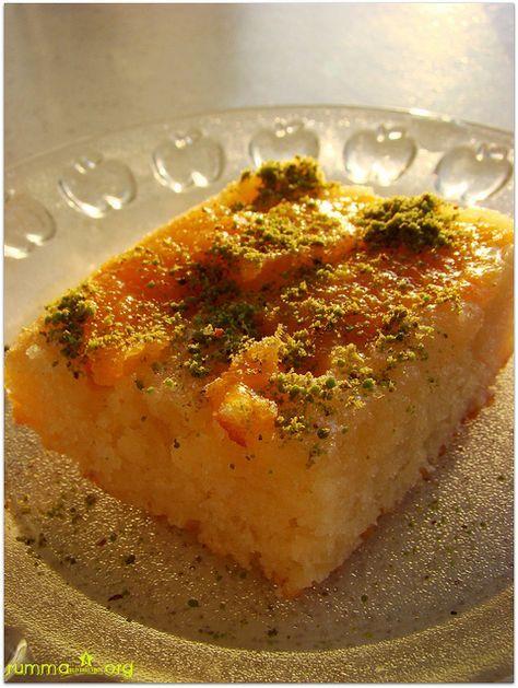 Şeftalili alt üst kek tarifi - rumma