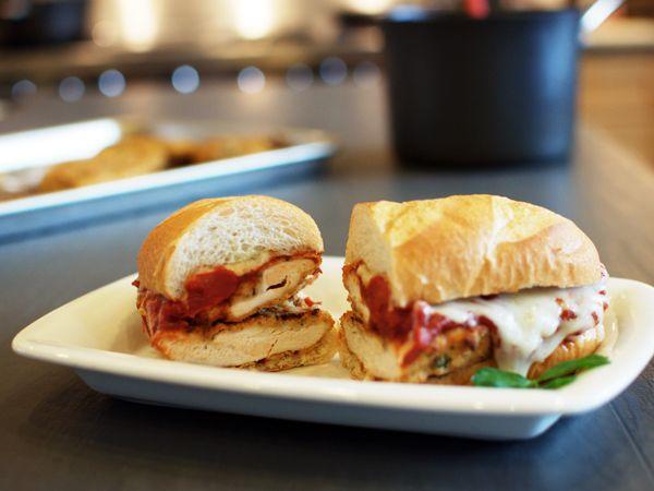 Top Secret Recipes Olive Garden Chicken Parmigiana Sandwich Reduced Fat Copycat Recipe Breaded Baked