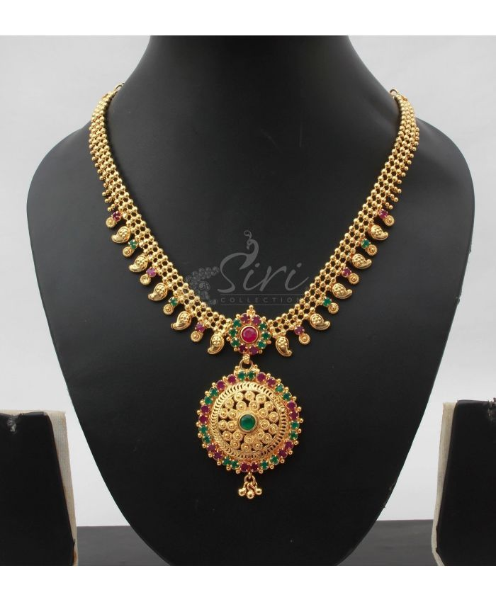 Simple Traditional Micro polish gold Necklace