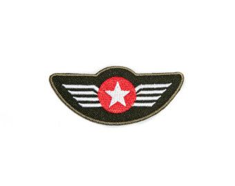 Iron-on Patch / Pilot Badge / Embroidery / Military Patches / Army Badge Red Star / Aircrew