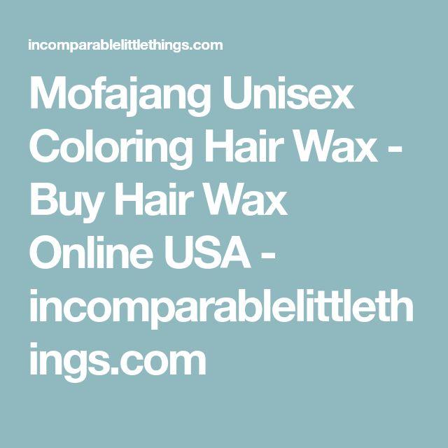 Mofajang Unisex Coloring Hair Wax - Buy Hair Wax Online USA - incomparablelittlethings.com