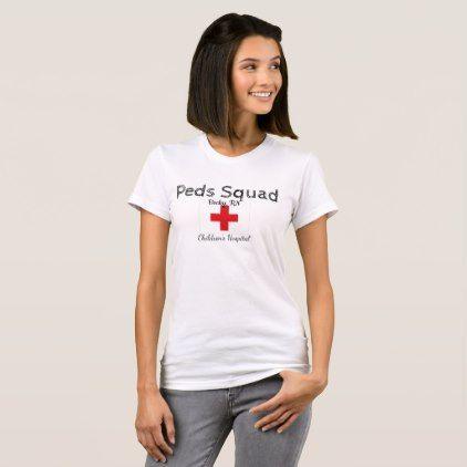 Peds Squad Nurse Shirts Staff Hospital Uniforms - nursing nurse nurses medical diy cyo personalize gift idea