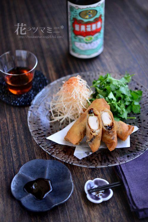 ささみと胡瓜の北京ダック風 - fried Pekin duck roll