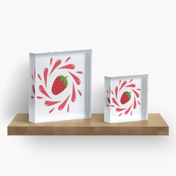 Strawberry splash by LunaPrincino #design #strawberry #berry #fruit #fresh #juicy #food #raw #vegan #red #and #white #splash #motion #graphic #drops #print #prints #redbubble #gift #idea #ideas #summer #vivid #graphics #cool #pretty #cute #creative #style #home #decor #interior #decorative #decoration #acrylic #block #blocks