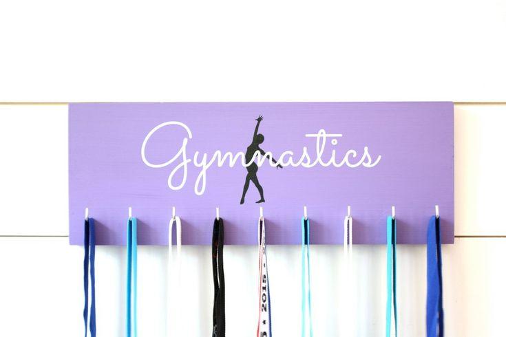 Gymnast Medal Holder / Display - Gymnastics Silhouette - Medium - York Sign Shop - 1