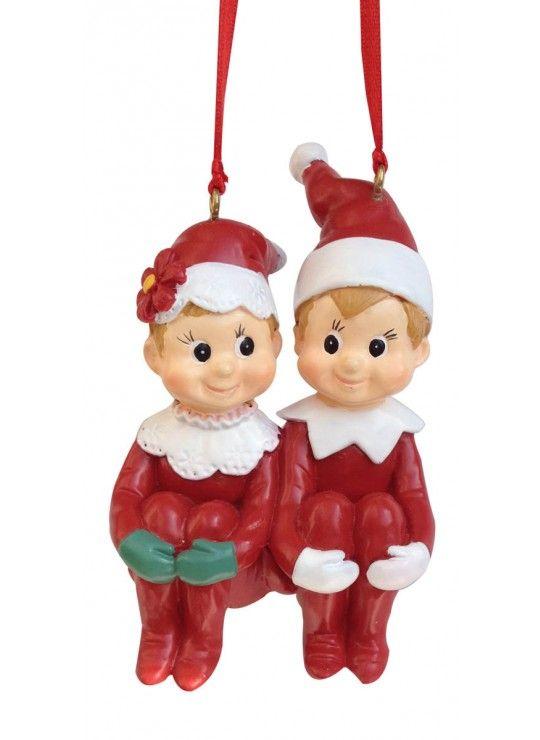 Couple Pixie Ornament