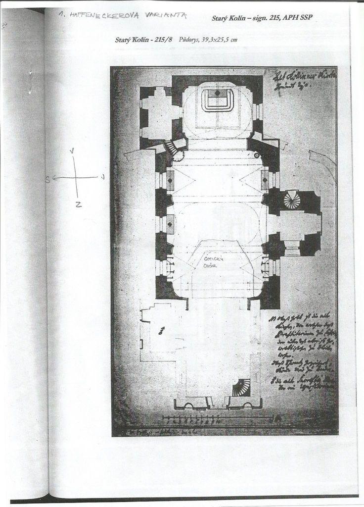 Nerealizovaný návrh barokní přestavby kostela od Tomáše Haffeneckera - Půdoris