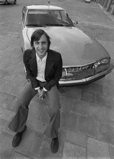 Johan Cruyff and his Citroën SM