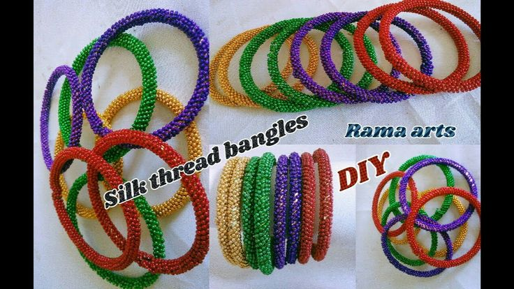 Silk thread bangles - Making with ball chain | jewellery tutorials