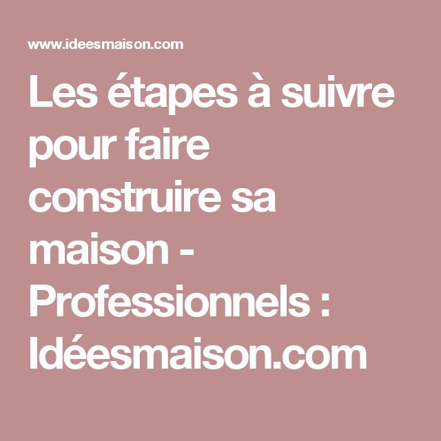 1000 ideas about faire construire sa maison on pinterest