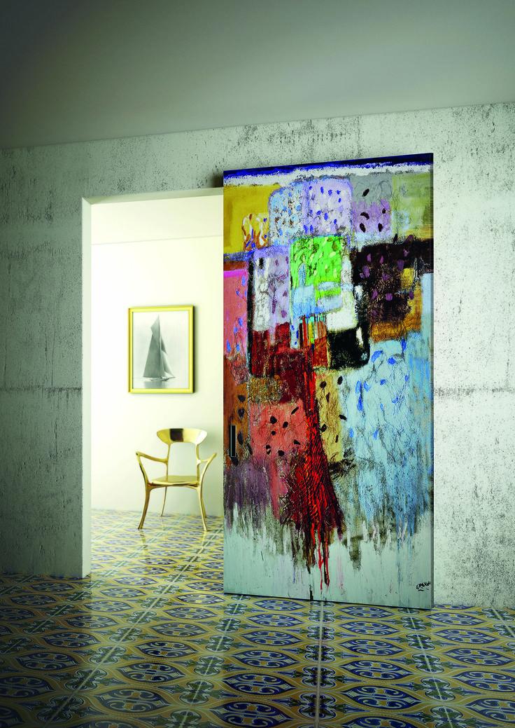 Estro e fantasia di un artista che attraverso la pittura esprime le proprie emozioni. DIPINTO by Aleph #interiors #doors #customized