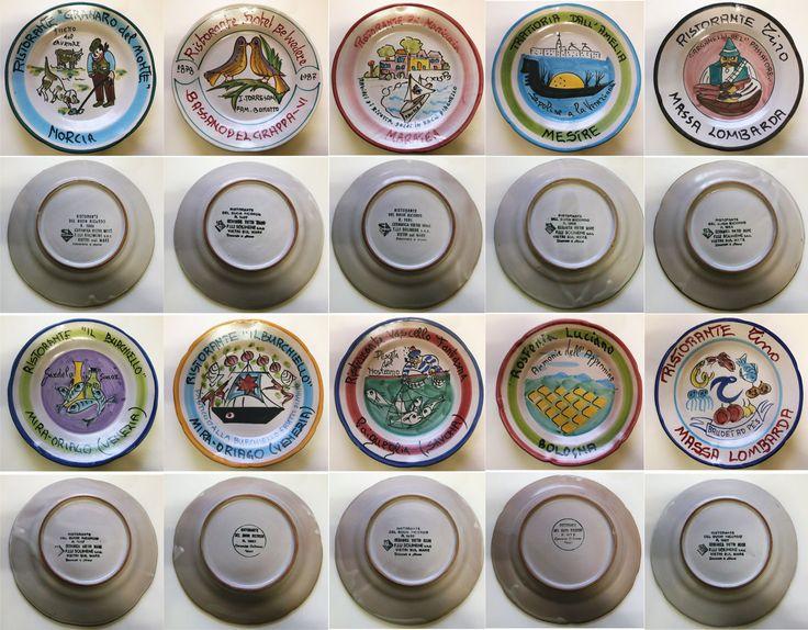 Piatti del buon ricordo - anni 70 / 80 / 90 - lotto 10 piatti 43B - Piatti decorativi Ceramica Solimene Vietri - Italia di Piattidelbuonricordo su Etsy