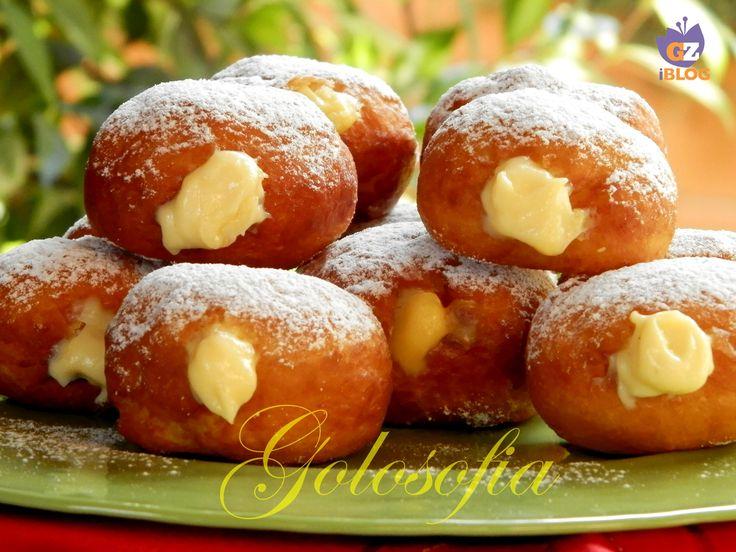 Krapfen+alla+crema+pasticcera,+ricetta+fantastica!