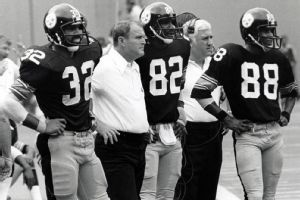 Chuck Noll- The Steelers will wear Chuck Noll's initials on their helmets this year as a tribute to the only coach to win four Super Bowls.