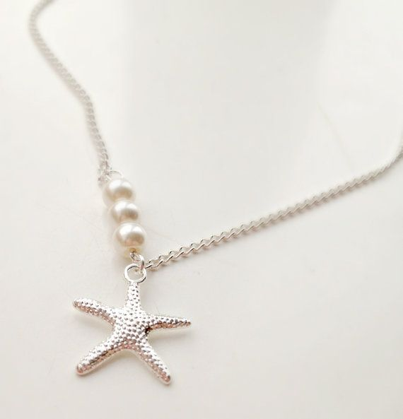 Hey, I found this really awesome Etsy listing at https://www.etsy.com/listing/124279551/starfish-and-pearl-necklace-starfish