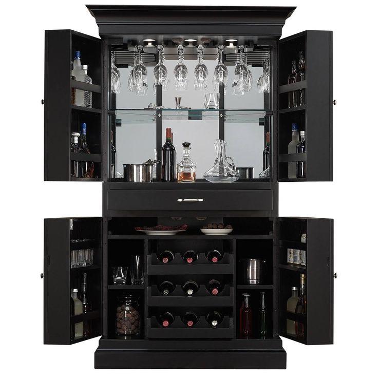 arianna blackstain home bar wine cabinet corner server