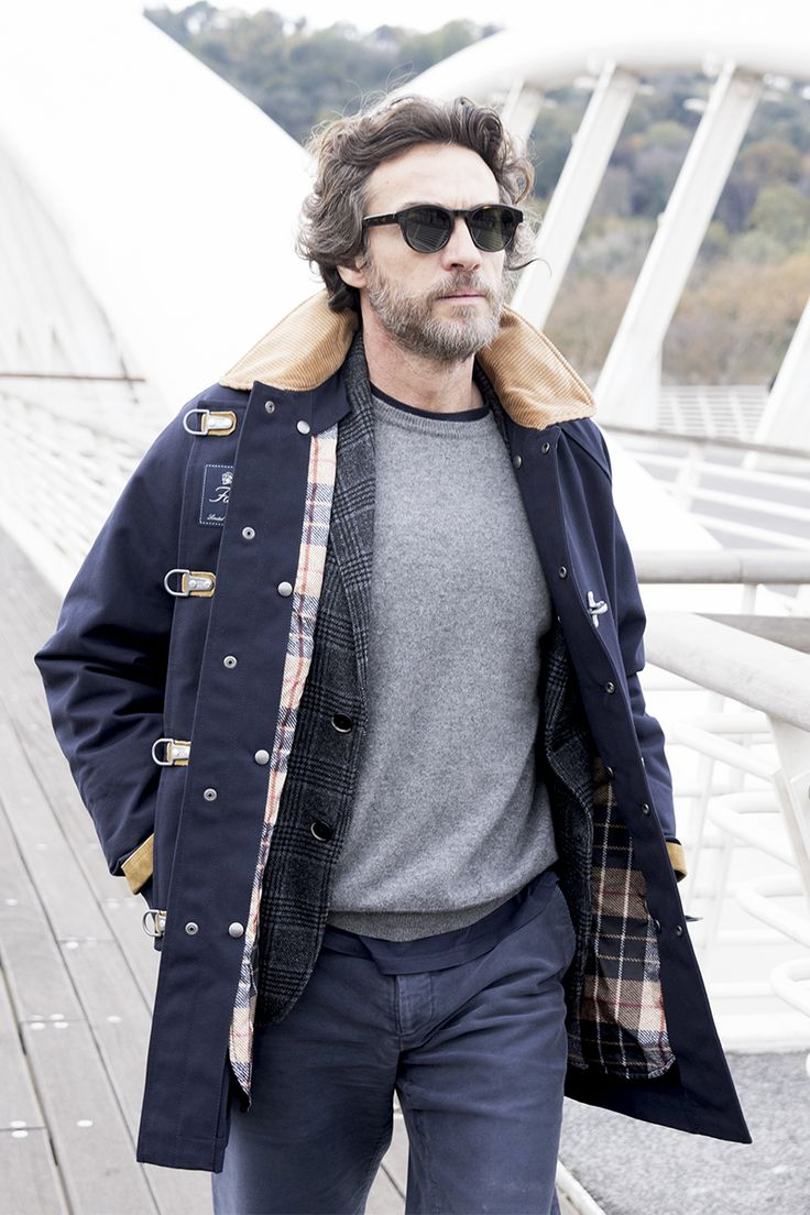 Everyday essentials: Alessio Boni completing his city look with a Limited Edition Fay 4 Ganci Jacket.