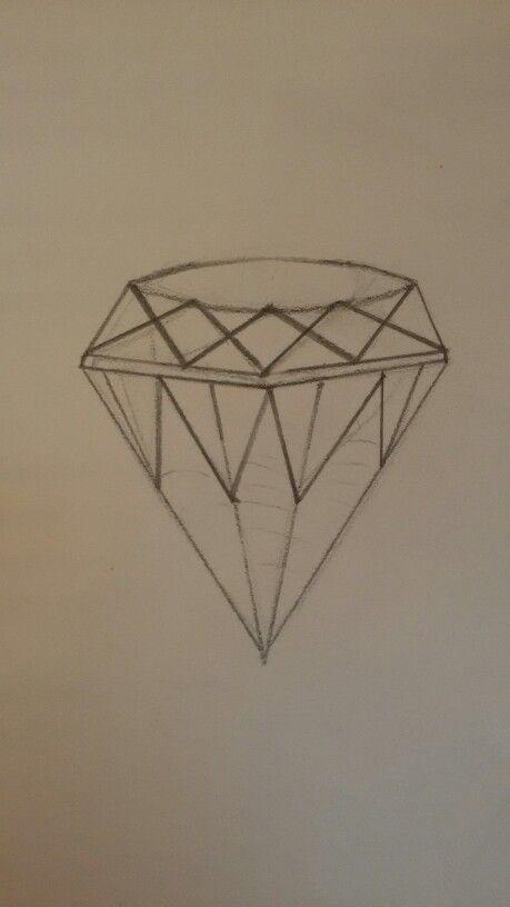 Dit is mijn schets van mijn diamant, ik was nog even aan het kijken wat ik er verder nog mee wilde doen.