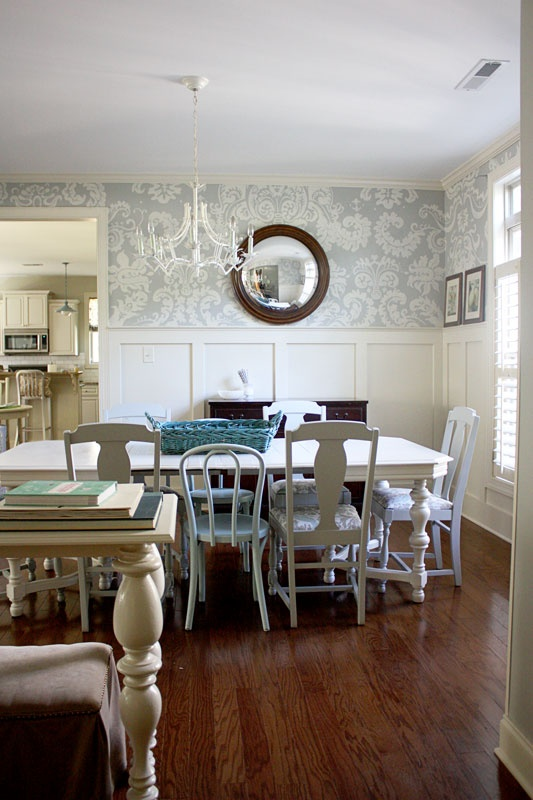22 best images about dining room on pinterest dado rail for Best wallpapers for dining rooms