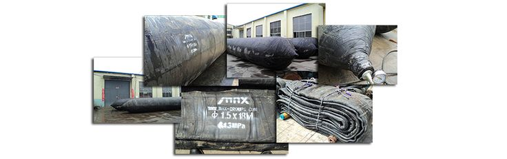 Rubber inflatables airbag for marine mobilisation use.