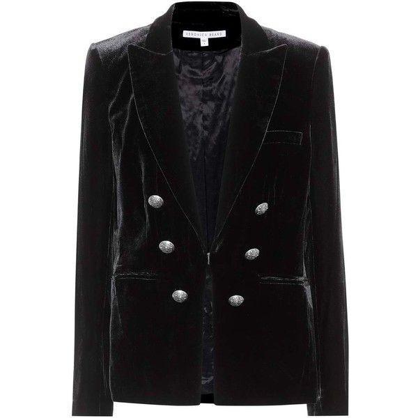 Veronica Beard Briar Velvet Blazer (5,330 GTQ) ❤ liked on Polyvore featuring outerwear, jackets, blazers, black, velvet jackets, veronica beard blazer, veronica beard, blazer jacket and velvet blazer