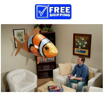 Remote Control Flying Clownfish or Shark at 1CrazyDeal.com $21.99