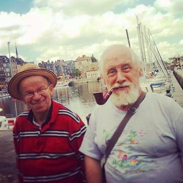 From L'Arche à Paris' instagram feed! Patrick and Gilbert on a trip to Honfleur! #community #friendship