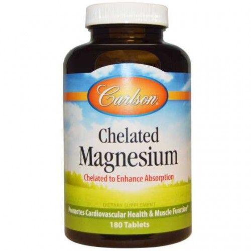 Chelat Glicynian Magnezu 200mg,  180tabl. Carlson Laboratories