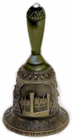 """картинка """"Кисловодск"""", колокольчик бронзовый с ручкой магазин Сувениры КМВ"""