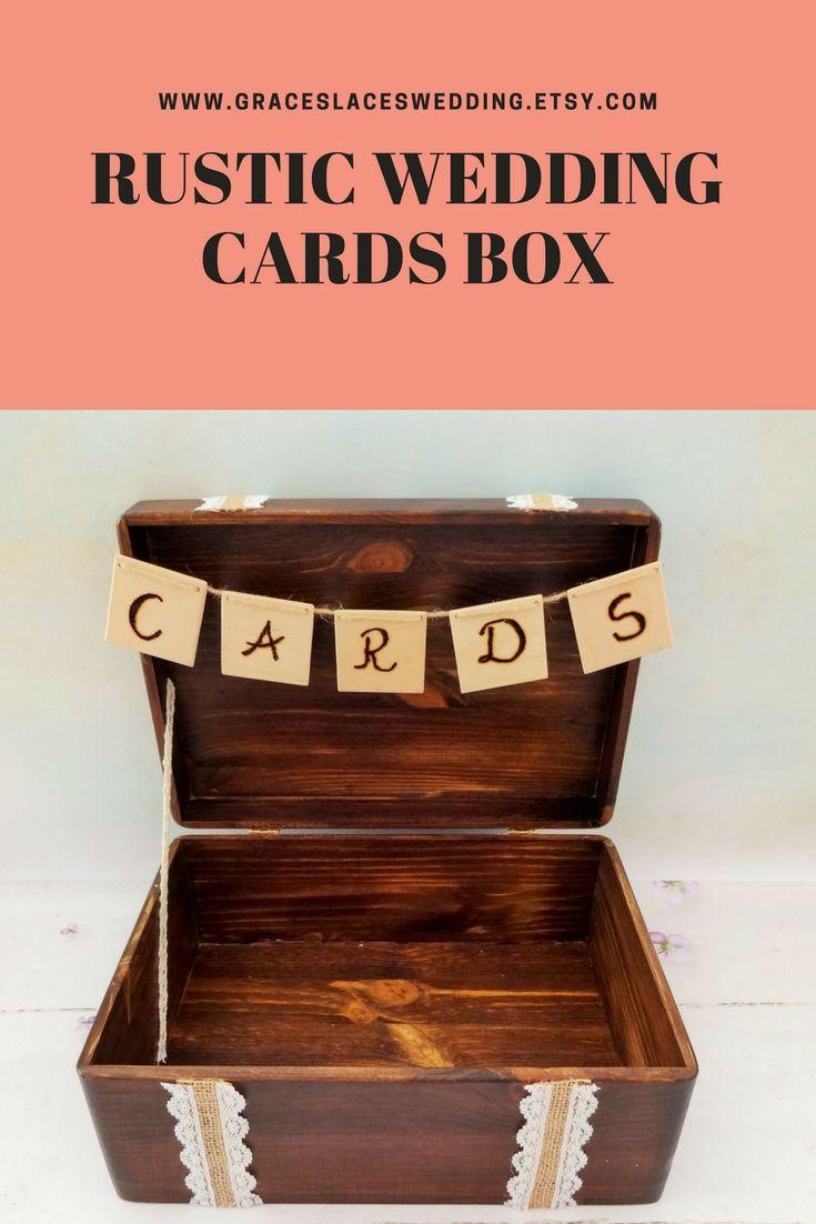 Wooden chest box in rustic style for wedding cards, perfect for bohemian wedding or woodland wedding #bohemianwedding #rusticwedding #weddingcardsbox #weddingchest #loveletterceremony #weddingcardsholder #woodenweddingbox