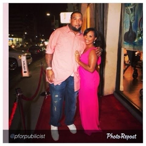 """EverythingMrsPennLoves: My Hubby & I xoxo by @pforpublicist """"It doesn't get much more beautiful than this!!! The stunning @everythingmrspennloves arrives with her superstar NFL husband Donald Penn on the red carpet for the launch of her couture boutique!!! #proudpublicist #blessed #crafted #teamdomi #everythingmrspennloves"""""""