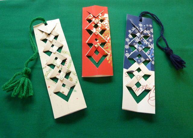 diy upcycled christmas card bookmarks mark it bookmarks pinterest diy christmas cards old