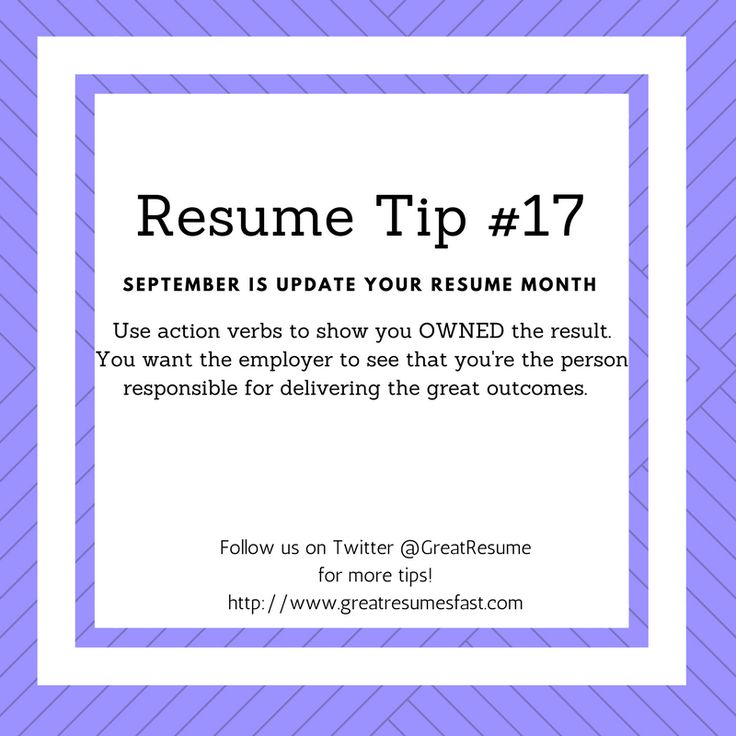 Resume Writing Tips For September Update Your Resume Month. Resume Tip #17 # Resume