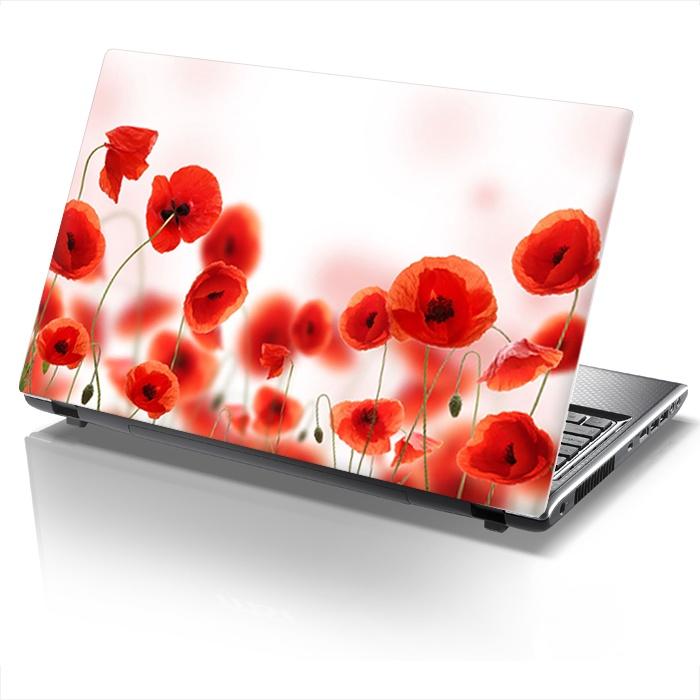 Laptop sticker POPPIES!   www.sticky.gr