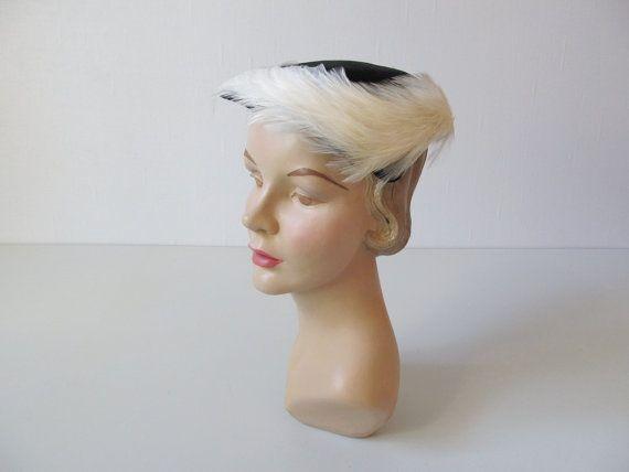 1950s Feathered  Hat /  Swan Lake / Urbi Orbi Yokohama