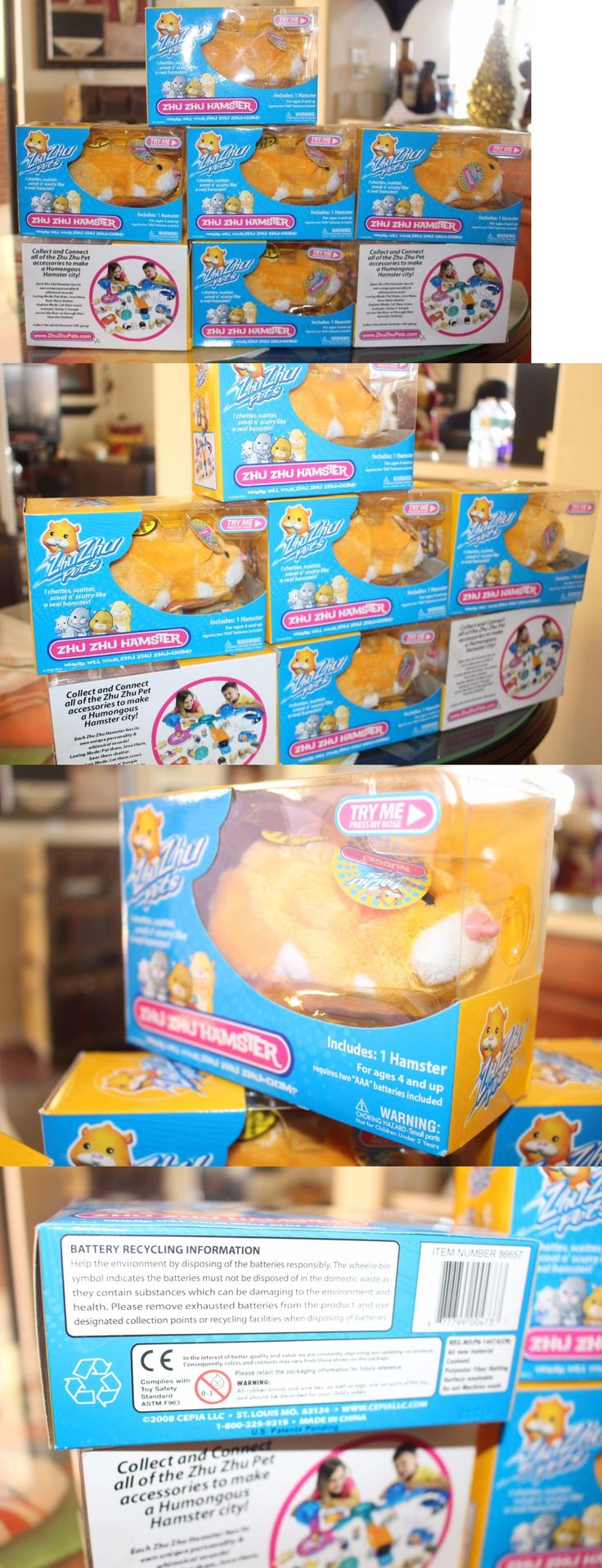 Zhu Zhu Pets 171529: New Lot Of 7 Zhu Zhu Hamster Pet Nugget (Rare Gold And White) 2008 -> BUY IT NOW ONLY: $35 on eBay!