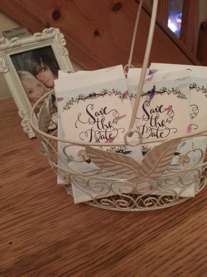 my save the date seed packets - forget me not's <3