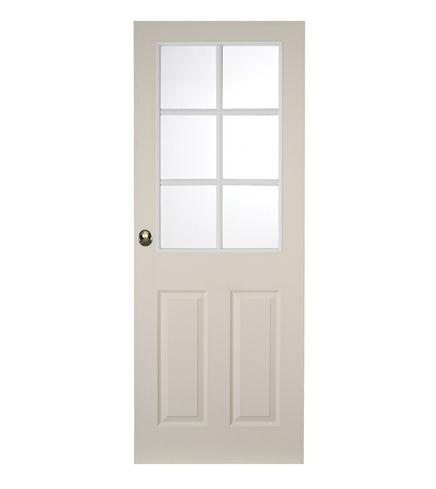 6 Panel grained 6 light glazed door