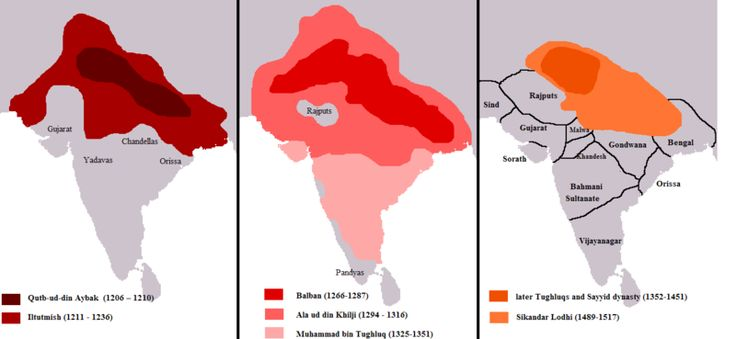 Localização de Sultanato de Déli
