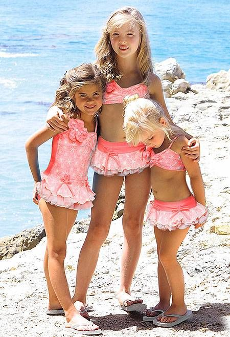 GORGEOUS Isobella and Chloe SUNKISSED Neon Coral Lace ...
