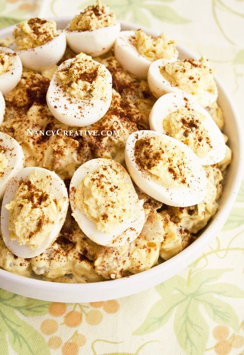 Deviled Egg Potato Salad! Yummy potato salad and deviled eggs–two classic sides combined in one dish!
