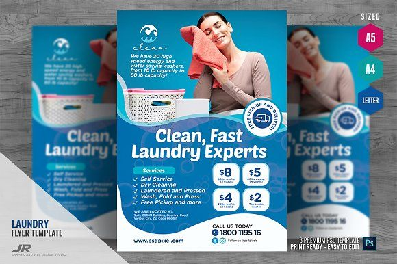 Laundry Expert Services Flyer Flyer Laundry Service Business