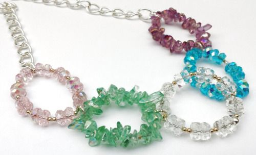 5 Glass Pastel Circles Necklace by shinycatcreations http://ift.tt/2zbdDms Free eBook at http://ift.tt/219cweU with easy jewelry making projects.  5 Glass Pastel Circles Necklace by shinycatcreations ...