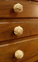 Nautical by Design: Nautical knobs. Dress Up Your Cabinets and Furnishings With Skipjack's Monkey's Fist Knob